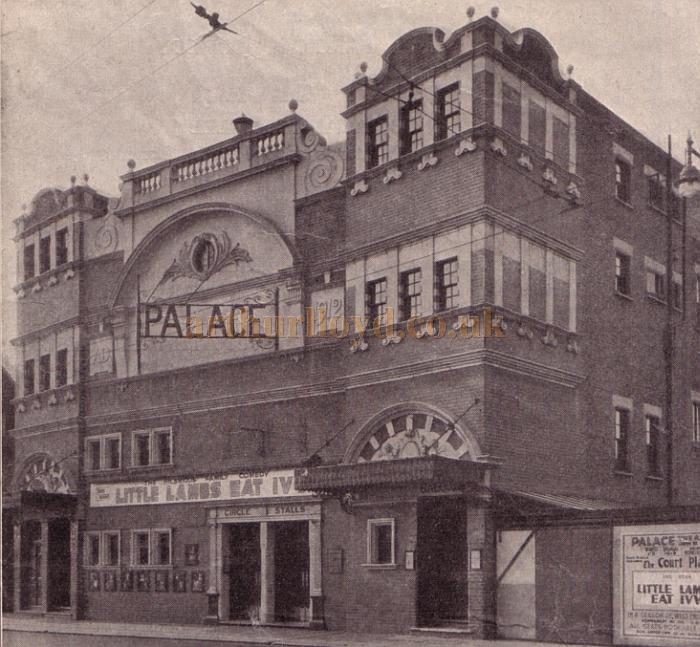 A photograph of the Palace Theatre, Westcliff on Sea during the run of 'Little Lambs Eat Ivy' -From a programme for 'Top Secret' at the Theatre in May 1950 - Kindly donated by Jan Davies.