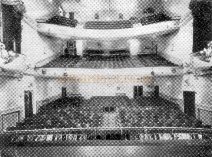 The auditorium of the Palace Theatre, Westcliff on Sea, from a programme for 'The Fol-De-Rols song and laugh show' at the Theatre in 1959 - Kindly donated by Jan Davies.