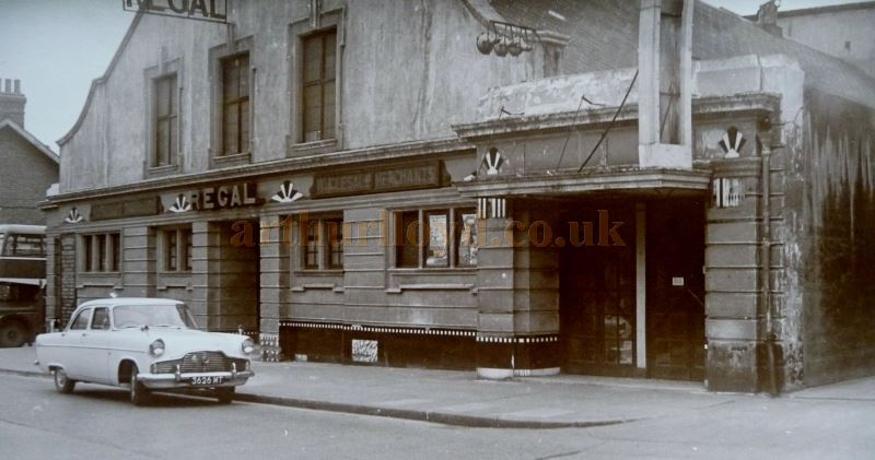 The Regal Theatre after it had closed in 1954 and was being used as a warehouse - Courtesy Nick Bridge and Terry Ebbs.