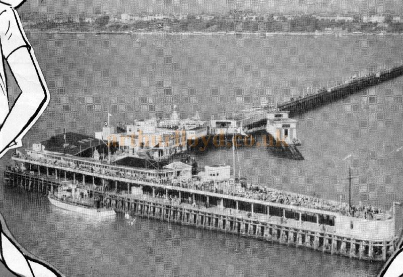 Southend Pier and the Sundeck Theatre from a programme for Zip-a-Hoy - Courtesy Robert Frise