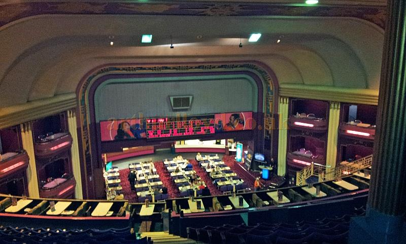 The auditorium and stage of the Garrick Theatre, Southport whilst in Bingo use in October 2013 - Courtesy George Richmond.
