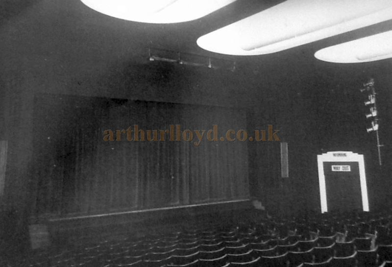 The Auditorium and Stage of the Little Theatre, Southport - Courtesy George Richmond and the Crosby Archive.