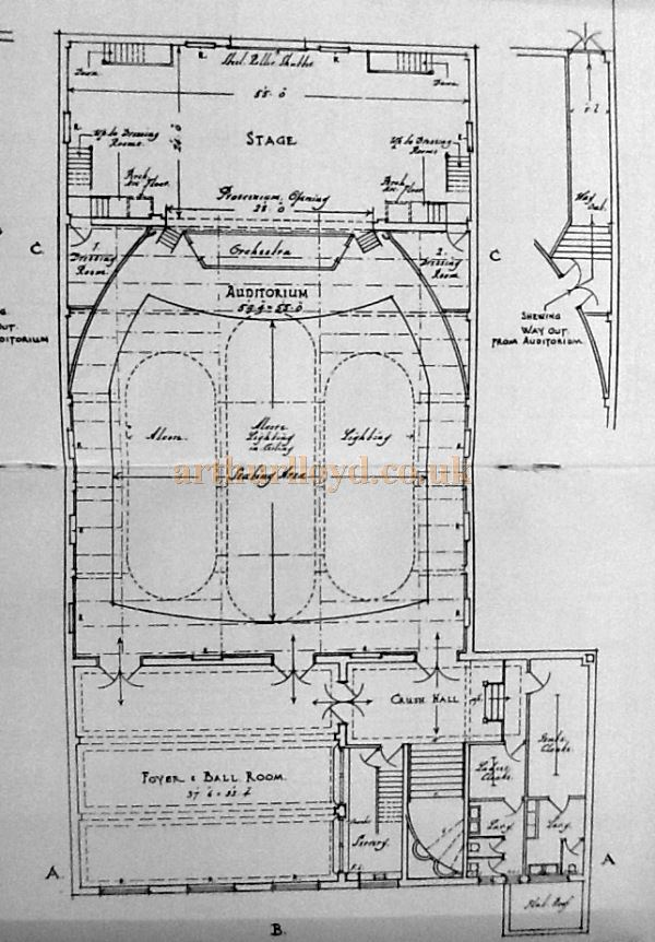 A Plan of the Little Theatre, Southport - Courtesy George Richmond and the Crosby Archive.