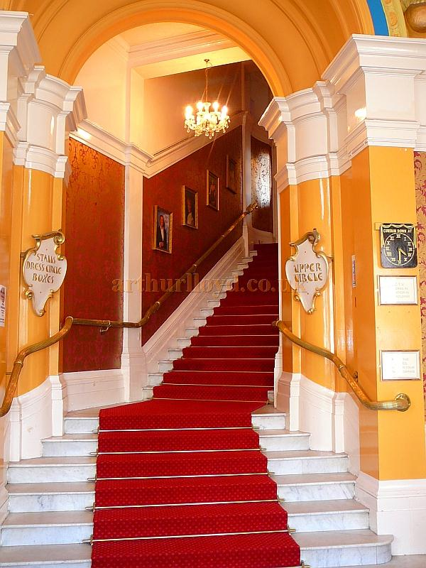 The Stairs to the Stalls, Dress Circle, Boxes, and Upper Circle of the King's Theatre, Southsea in 2011 - Courtesy B.F.