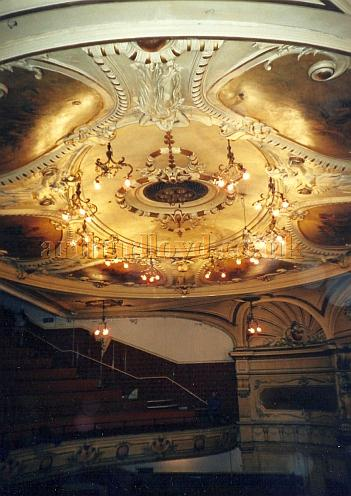 The Auditorium Ceiling of the King's Theatre, Southsea in 2000 - Courtesy David Garratt.