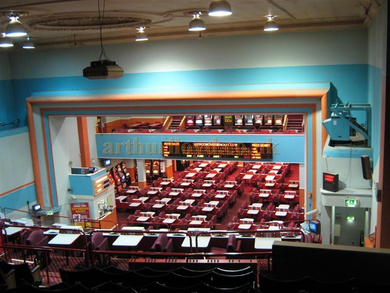 The auditorium and stage of the St. Helens Hippodrome during Bingo use in March 2010 - Courtesy K.R.