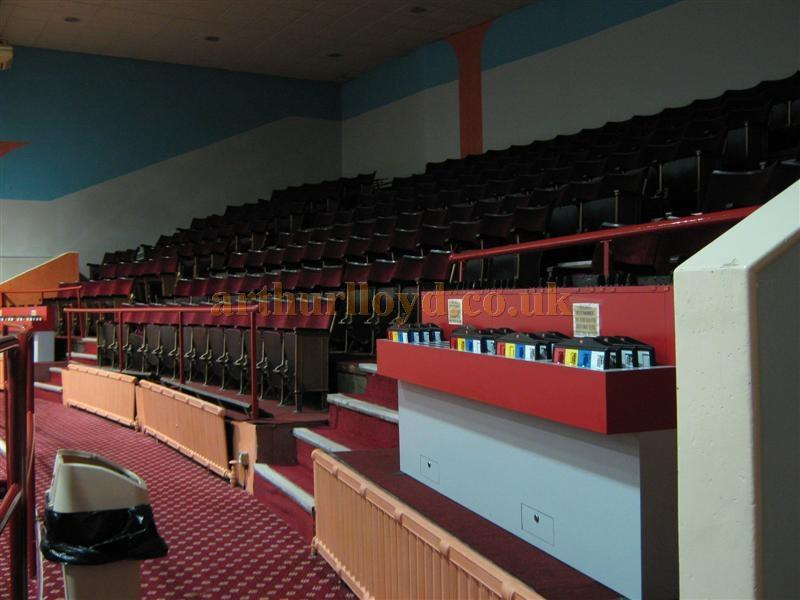 The auditorium balcony of the St. Helens Hippodrome during Bingo use in March 2010 - Courtesy K.R.