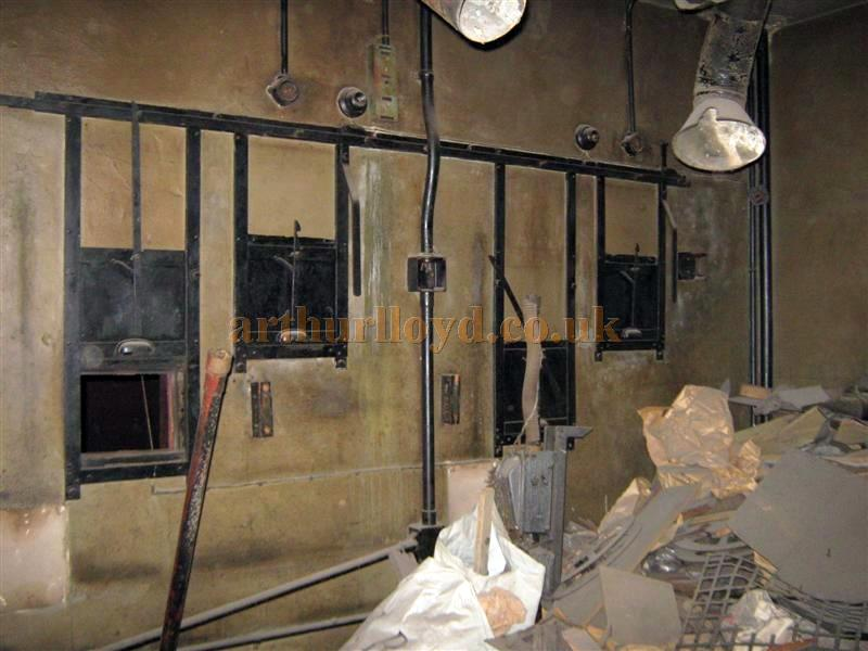 The former projection room of the St. Helens Hippodrome in March 2010 - Courtesy K.R.