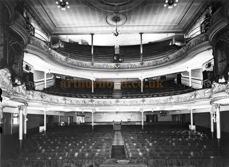 The auditorium of the St. Helens Hippodrome in 1937, shortly before it was converted for Cinema use - Courtesy K.R.