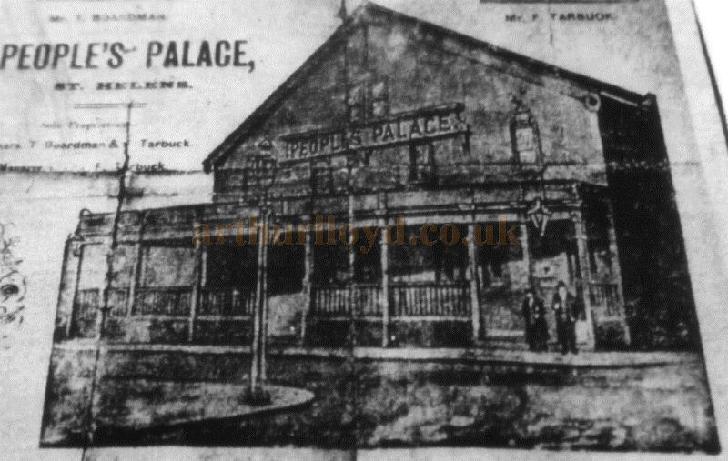 The People's Palace Music Hall, St. Helens - Courtesy St Helens Library and Roy Cross