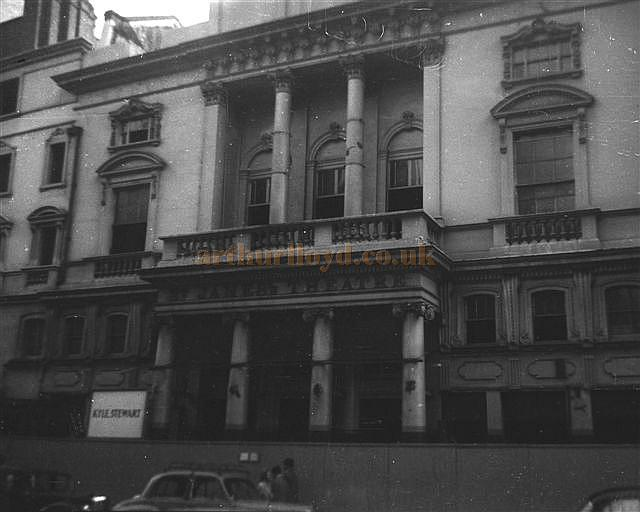 The St. James's Theatre, boarded up and awaiting demolition in 1957 - Courtesy Gerry Atkins