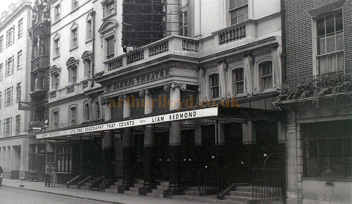 The St. James's Theatre in early August 1957, shortly after the run of 'It's the Geography That Counts'. This was the last production at the Theatre before it was demolished - Courtesy Allan Hailstone.
