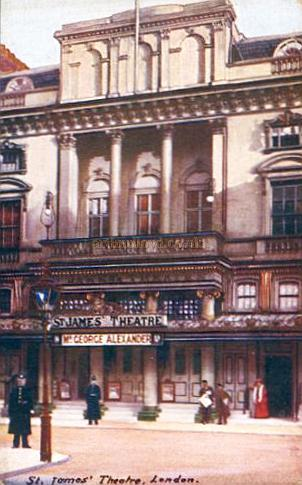 An early postcard of The St. James's Theatre