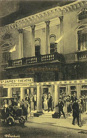 The St. James's Theatre - From a postcard.