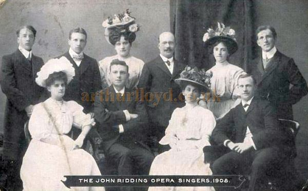A Photograph of the John Ridding Opera Singers - Courtesy Graeme Smith.