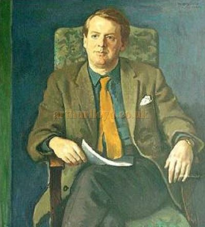Stirling University's founding Principal Tom Cottrell, instigator of the MacRobert Arts Centre, painting courtesy of the University of Stirling.