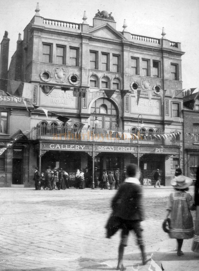 An early photograph of the Theatre Royal and Opera House, Stockport - Courtesy Roy Cross
