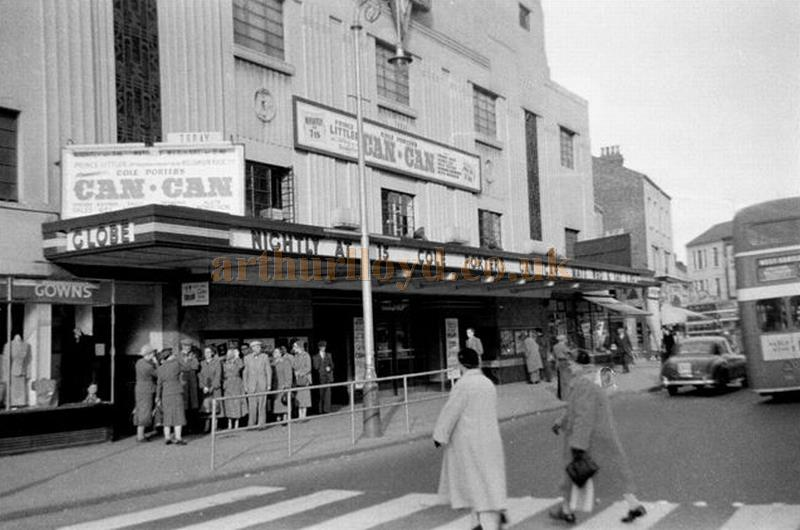 The Globe Theatre, Stockton-on-Tees during the run of 'Can Can' on the 22nd of October 1956 - Courtesy Gerry Atkins
