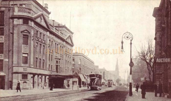 The Alexandra Theatre and Stoke Newington Road - From a period Postcard