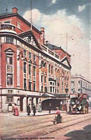 The Alexandra Theatre, Stoke Newington - From a period Postcard.