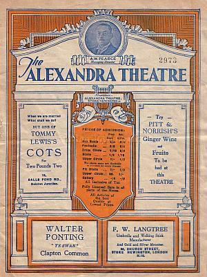 Programme for 'Boys Will Be Boys' at the Alexandra Theatre, Stoke Newington - Click to see the Entire Programme.