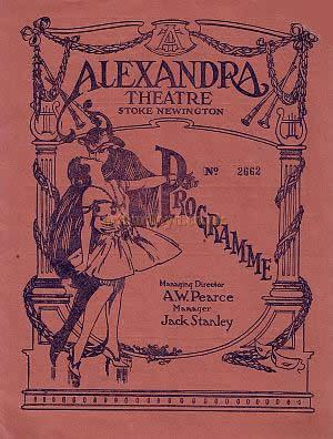 Programme for 'Up In Mabel's Room' by Wilson Collison and Otto Harbach, Arthor of 'No, No, Nanette,' at the Alexandra Theatre, Stoke Newington in 1928.