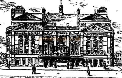 A sketch of the Alexandra Theatre Stoke Newington - From the Penny Illustrated Paper 1898