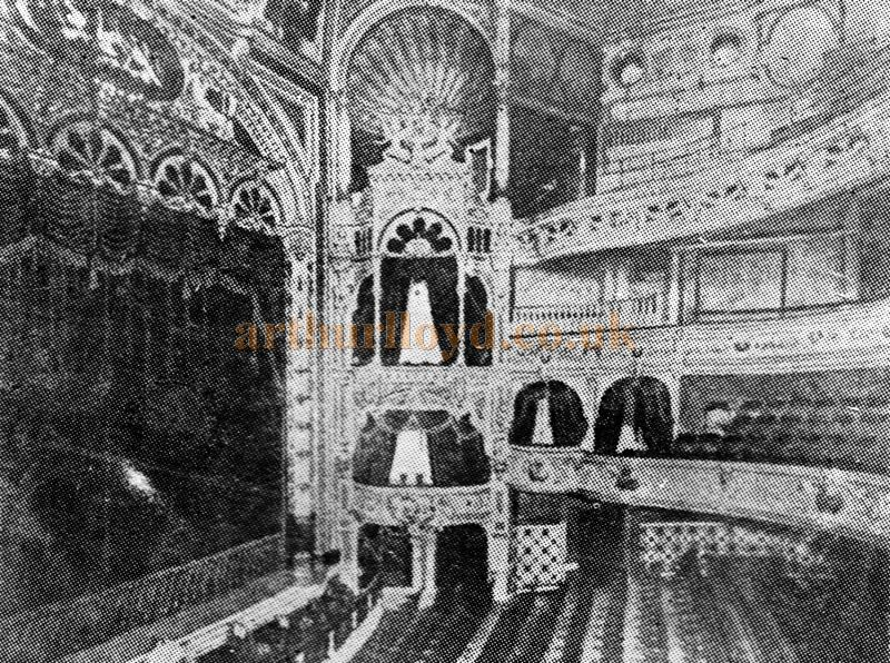 The original Frank Matcham Auditorium of the Borough Theatre, Stratford East - From a programme for 'Hamlet' and School For Scandal' at the Theatre in February 1925.
