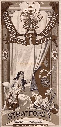 The opening night programme for 'King Henry IV' at the Borough Theatre, Stratford East on Monday August the 31st 1896 - Click to see entire programme.