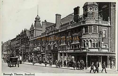 The Borough Theatre, Stratford East - From a 1915 postcard