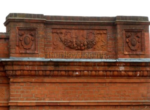 A detail of the facade of the former Grove Picture House, Stratford East in September 2014 - Courtesy Paul Bland.