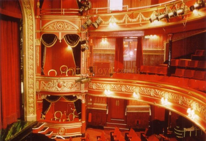 The auditorium of the Theatre Royal, Stratford East in January 1998 - Courtesy Ted Bottle