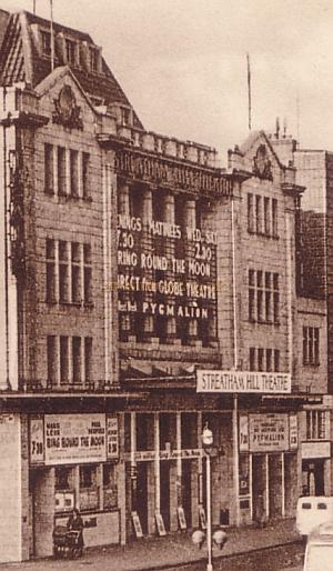 Detail of The Streatham Hill Theatre, from a F. Frith & Co. Ltd. Postcard dated 12th February 1954