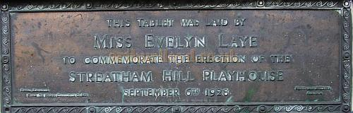 Tablet laid by Miss Evelyn Laye to commemorate the erection of the Streatham Hill Playhouse on the 6th of September 1928 - Photo Courtesy Mark Bennett.
