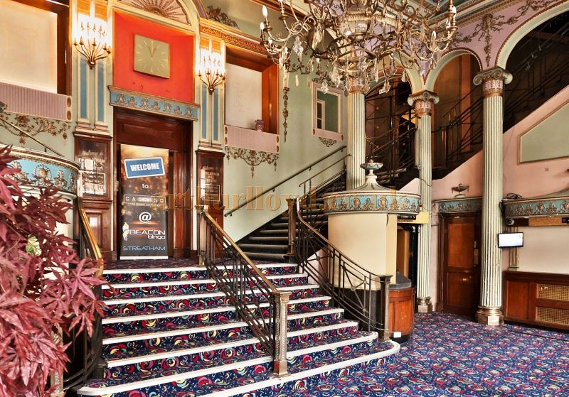 The Foyer of the Streatham Hill Theatre in March 2017 - Courtesy Tim Hatcher and Roger Fox.