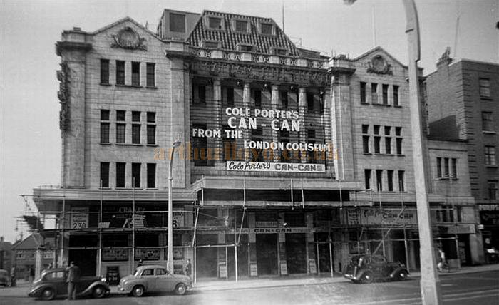 The Streatham Hill Theatre during the run of 'Can-Can' on the 10th of September 1956 - Courtesy Gerry Atkins