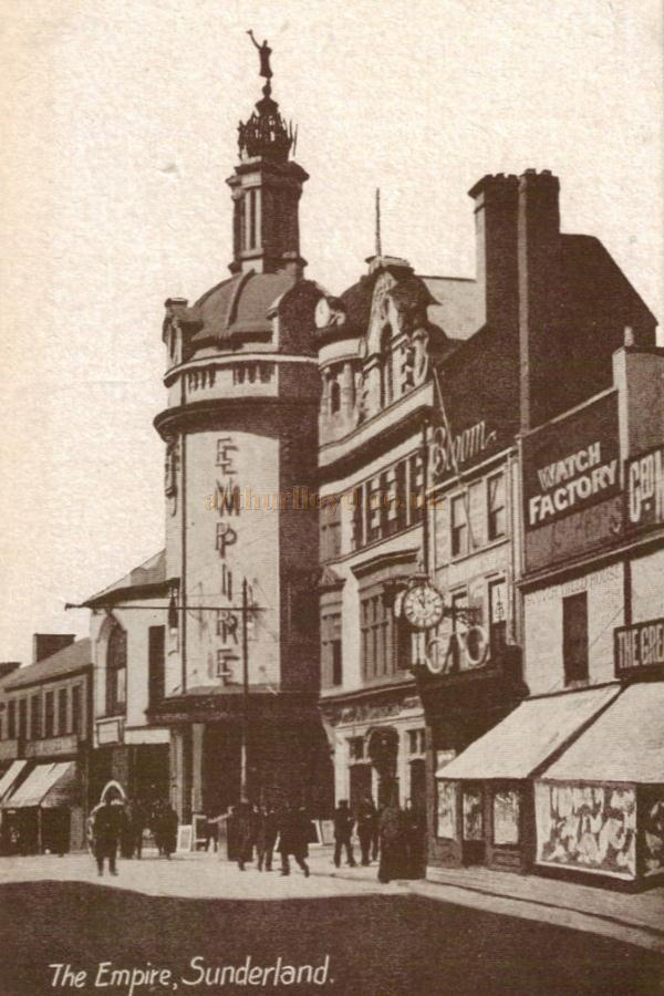 A contemporary postcard depicting the Empire Theatre, Sunderland