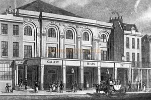 Surrey Theatre Blackfriars Road 1823 - From 'Charles Dickens and Southwark' (London borough of Southwark)