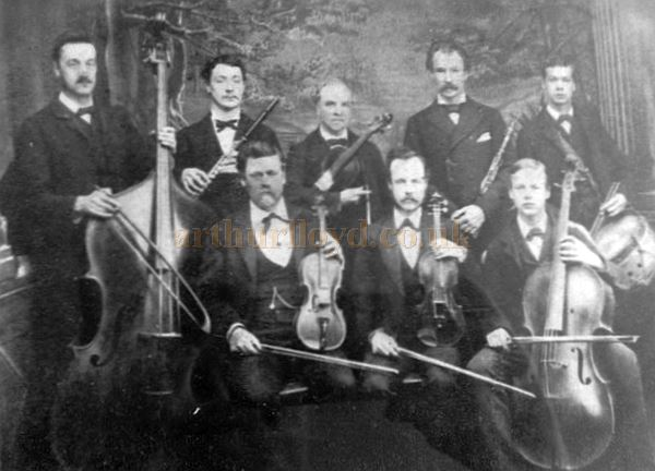The resident orchestra of the Royal Surrey Theatre circa 1880 - Courtesy Rosemary.