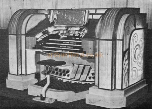 The Compton 3/10 No. A 202 Organ Console in the Granada Sutton, formerly the Plaza Theatre - From the 21st Anniversary edition of the Cinema Organ Society Journal 1973