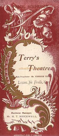 A programme for 'Jedbury Junr' at Terry's Theatre February 14th 1896 - Click to see entire programme.