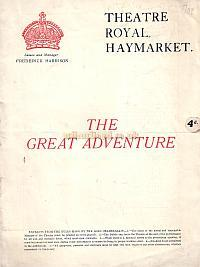 Programme for 'The Great Adventure' at the Theatre Royal Haymarket in 1924