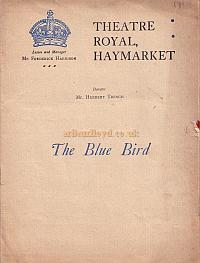 Programme for 'The Blue Bird' at the Theatre Royal Haymarket in 1910.