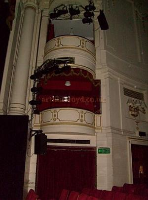 The auditorium boxes of the Theatre Royal, Windsor in November 2010 - Courtesy Charlie Gracie.