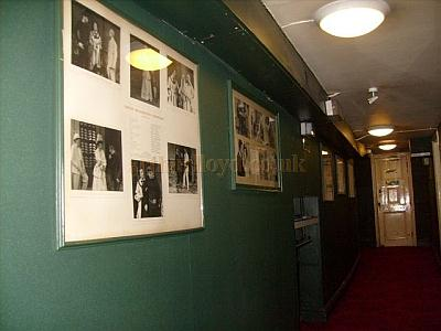 A corridor at the Theatre Royal, Windsor in November 2010 displaying framed photographs of the stars who have performed at the Theatre over the years - Courtesy Charlie Gracie.