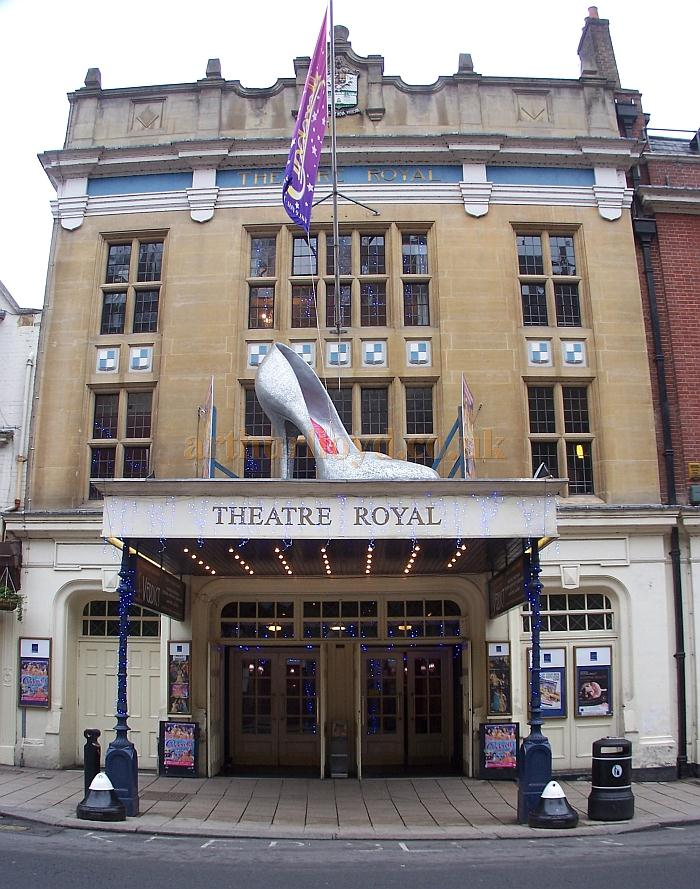 The Theatre Royal, Windsor in its centenary year and during the run of the pantomime 'Cinderella' in December 2010 - Photo M.L.