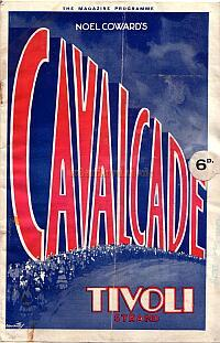 A Programme for  'Cavalcade; at the Tivoli Cinema, Strand on May the 8th 1933.