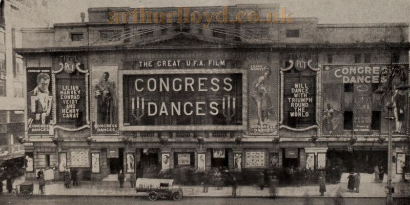 The Tivoli Theatre showing the film 'Congress Dances in 1931 - From the Bioscope, 23rd of December 1931.