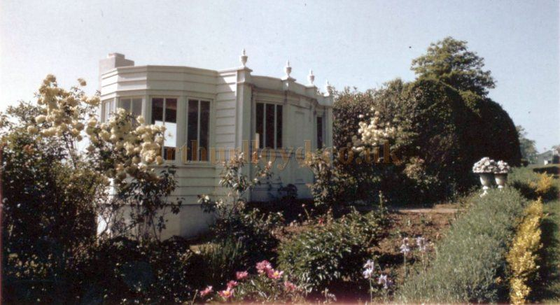 The summer house in the Ladew Topiary Gardens, Monkton, Maryland in the 1960s - Courtesy Ladew Topiary Gardens.