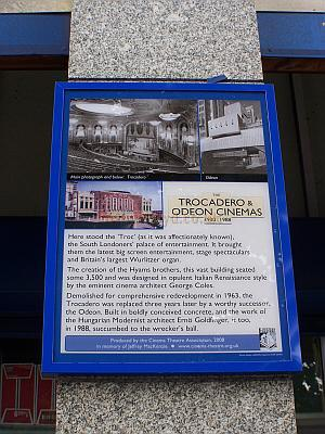 The CTA Plaque commemorating the Trocadero